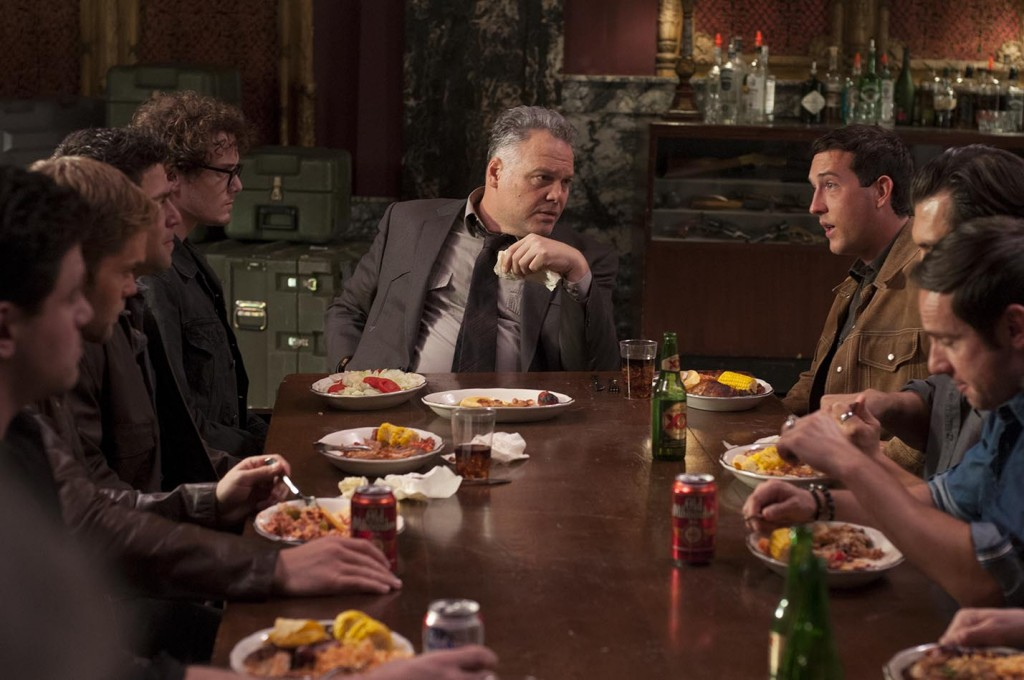 Movie Still_Deep left Anton Yelchin as Jacob, Middle Vincent D'Onofrio, Deep right Chris Marquette as Buddy_Photo Credit VCF_Hi Res Available