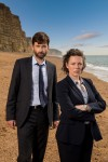 KUDOS FILM AND TELEVISION PRESENTSBROADCHURCH SERIES 2Images are under strict Embargo not to be used before the 20th January.PICTURED : L-R: EVE MYLES, CHARLOTTE RAMPLING, MARIANNE JEAN-BAPTISTE,  ARTHUR DARVILLE,  OLIVIA COLMAN, DAVID TENNANT,PHOEBE WALLER-BRIDGE, ANDREW BUCHAN,  JODIE WHITTAKER, JAMES DARCY,CAROLYN PICKLES and JONATHAN BAILEY.Copyright ITV/Kudos.