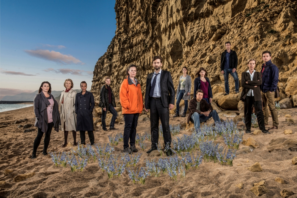 KUDOS FILM AND TV PRESENTBROADCHURCH SERIES 2PICTURED L-R_EVE MYLES, CHARLOTTE RAMPLING, MARIANNE JEAN-BAPTISTE, ARTHUR DARVILL, OLIVIA COLEMAN, DAVID TENNANT, PHOEBE WALLER-BRIDGE, ANDREW BUCHAN, JODIE WHITTAKER, JAMES D'ARCY, CAROLYN PICKLES and JONATHAN BAILEY.This image is the copyright of ITV/Kudos Film and Tv.