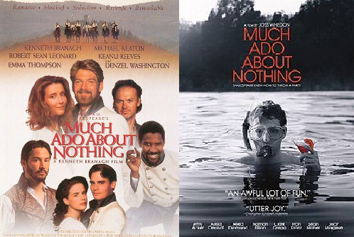 a comparison between the movie versions of much ado about nothing by kenneth branagh and joss whedon And those for whom it was kenneth branagh's 1993 much ado version of much ado about nothing whedon and rourke versions and compare.